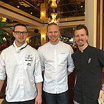 Chef de cuisine Mario Hellmayr, Mr. Jens Dolk (middle), Paul Svensson (right)