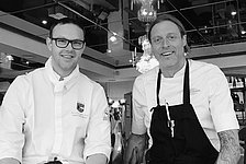 Chef de cuisine Mario Hellmayr (left) & Guest chef Gustav Trägårdh (right)